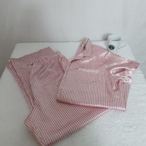 Womens pajama set. Long polyester pants/top